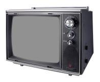 Vintage TV. Set, isolated on white Stock Image