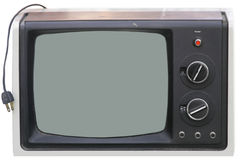 Vintage TV. With Blank Screen stock photos
