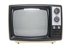 Vintage TV con la pantalla en blanco Imágenes de archivo libres de regalías