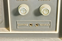 Vintage TV controls Royalty Free Stock Photography