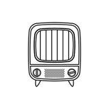 Vintage tv device Royalty Free Stock Photos