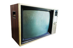An Vintage TV with direct light Royalty Free Stock Photography