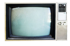 Vintage TV with direct light Stock Image