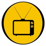 Vintage tv icon. Vector illustration of vintage tv icon - web button royalty free illustration