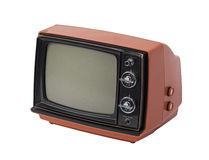 Vintage TV isolated Stock Image
