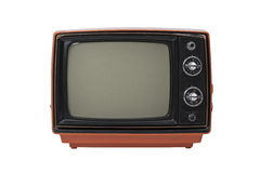 Vintage TV isolated Royalty Free Stock Photos