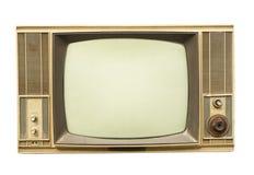Vintage tv isolated on white background Royalty Free Stock Image