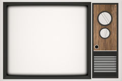 Vintage TV with place for your photo Stock Images