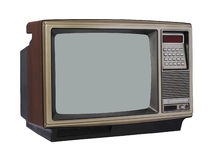 Vintage TV set. In angle view royalty free stock photography