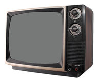 Vintage TV set Stock Images