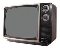 Vintage TV set. Isolated on white background Stock Images