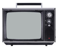 Vintage TV set. Isolated on white Stock Photography