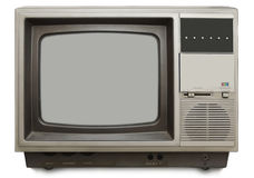 Vintage tv set. On white background Stock Photography