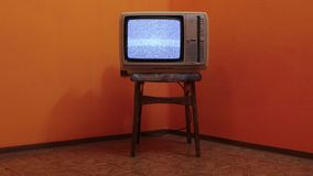 Old TV no signal stock video footage
