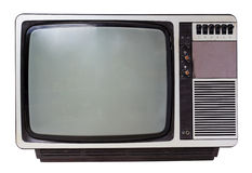 Vintage TV set isolated Stock Photography