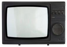 Vintage TV set isolated ov white Royalty Free Stock Photography