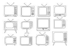 Vintage TV set Stock Photo