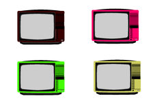 Vintage TV. Set in on white background royalty free illustration