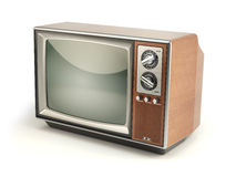 Vintage TV set  on white background. Communication, medi Royalty Free Stock Images
