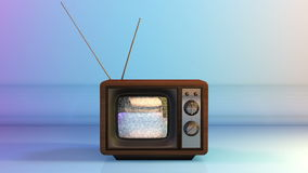 Vintage TV with Static Noise. Test on Screen stock footage
