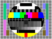 Vintage TV or Television Color Test Screen Stock Photography