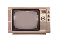 vintage tv or television isolated on white background Royalty Free Stock Image