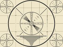 Vintage tv test screen pattern for television calibration.  stock illustration