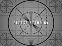 Vintage tv test screen. Please stand by television calibration pattern.  stock illustration