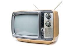 Vintage TV on  white background Stock Images