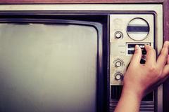 Vintage TV Royalty Free Stock Photo