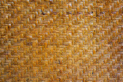 Vintage twill weave wickerwork pattern of old Thai house wall for background and texture Stock Images