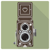 Vintage twin lens reflex camera  icon Royalty Free Stock Photography