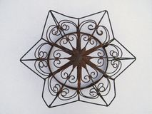 Vintage Twisted Metal Wire Star Architectural Decoration Stock Image