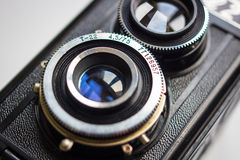 Vintage two lens camera Royalty Free Stock Photo