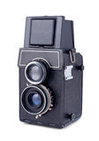 Vintage two lens photo camera isolated Stock Images
