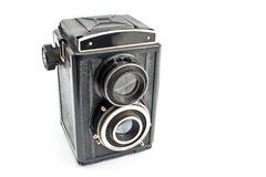 Vintage two lens photo camera Royalty Free Stock Photography
