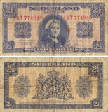 Vintage Two and One Half Gulden Stock Photos