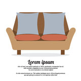Vintage Two Seat Sofa Royalty Free Stock Image
