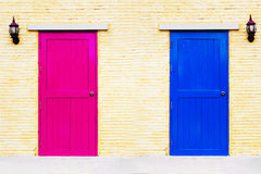 A vintage two tones of couple doors stock photos