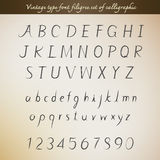 Vintage type font filigree set of calligraphic style Stock Photo