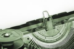 Vintage type writer -close up view Stock Photos