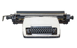 Vintage  type writer, Old Thai Land type writer isolated on whit Stock Images