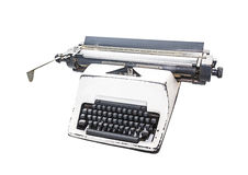 vintage  type writer, Old Thai Land type writer isolated on whit Royalty Free Stock Photos