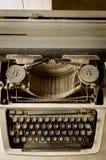 Vintage type writer. Portrait of vintage type writer Royalty Free Stock Photos