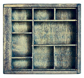 Vintage typesetter or shadow box Royalty Free Stock Images
