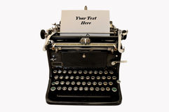 Vintage typewriter. Old fashioned typewriter with space for text Royalty Free Stock Photo