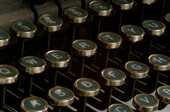 Vintage Typewriter. Vintage, antique typewriter key background Royalty Free Stock Images