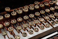 Vintage Typewriter. Most keys showing, rusted look stock photography