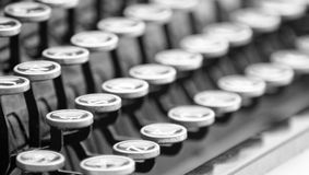 Vintage typewriter. Black and white vintage typwriter Royalty Free Stock Photography