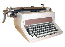 Vintage typewriter. Manuel vintage typewriter isolated on white Royalty Free Stock Images